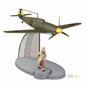 TIM & STRUPPI Messerschmitt BF-109 mit Tim  Tintin Moulinsart Flugzeug 29536 (L*