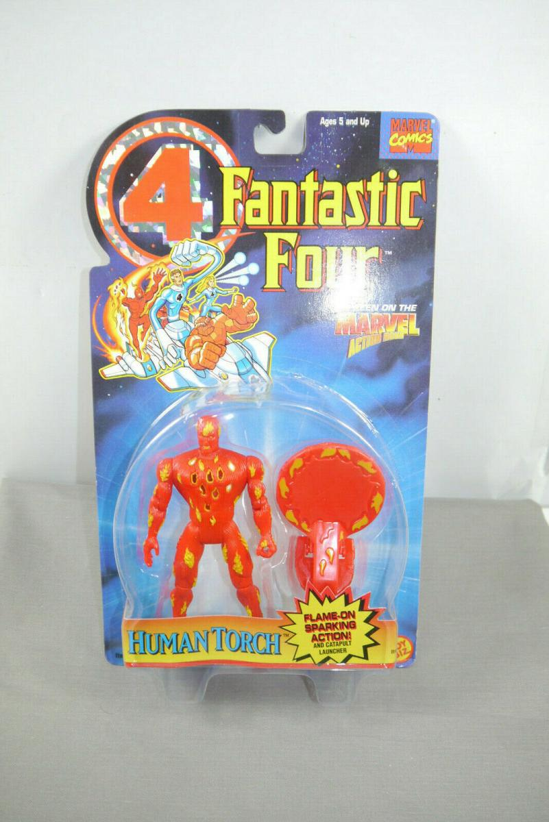 Fantastic Four Human Torch  Actionfigur Toy Biz  Marvel OVP ( K66 )