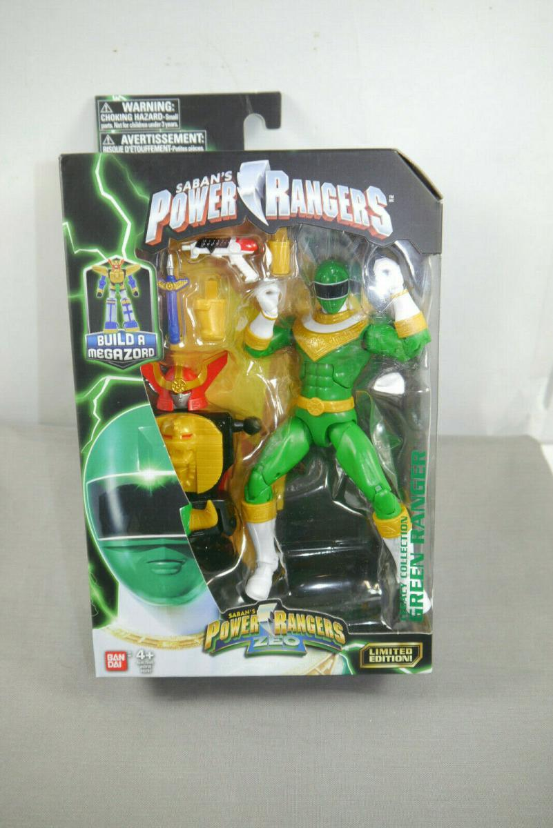POWER RANGERS ZEO Limited Edition Green Ranger Actionfigur BANDAI ( K45 )