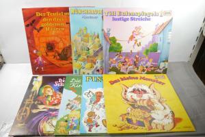 7 Europa Kinderserie Schallplatten LP  kleine Monster u.a Z : sehr gut  (MF16)