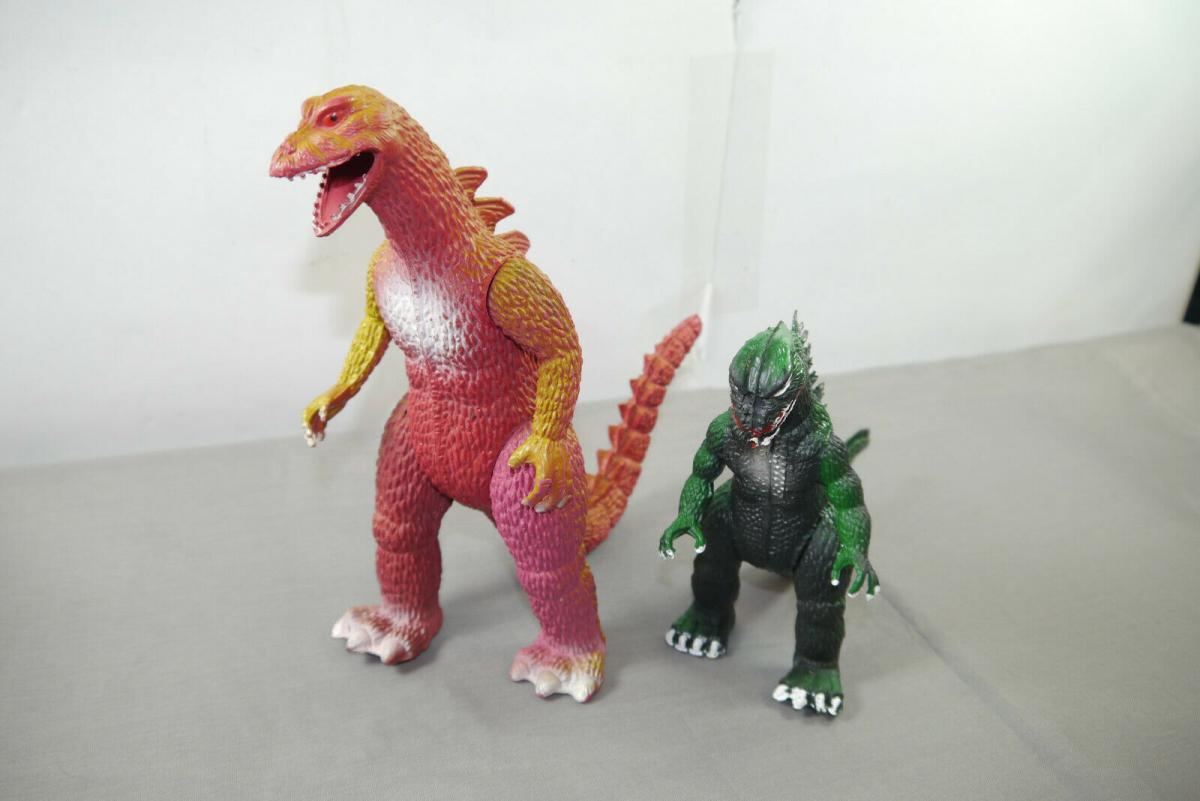 GODZILLA  /  King Kong 2 Figuren 80er Jahre Imperial Toys    (K49a)
