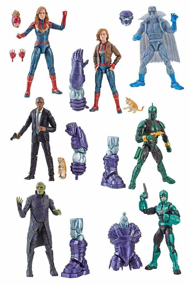 Marvel Legends Wave 1 Captain Marvel Kree Sentry 7er Set Komplett  Hasbro (KB2)