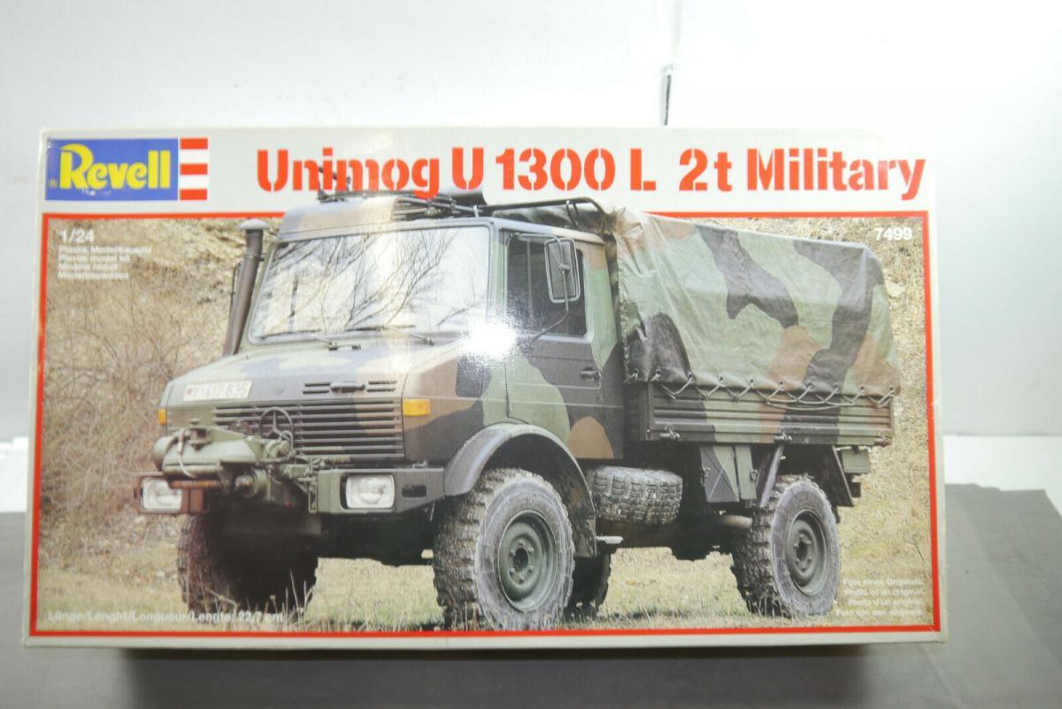 Revell  Unimog U 1300 L 2t Military H0 1:87  7499   Plastik Modellbausatz  MF11