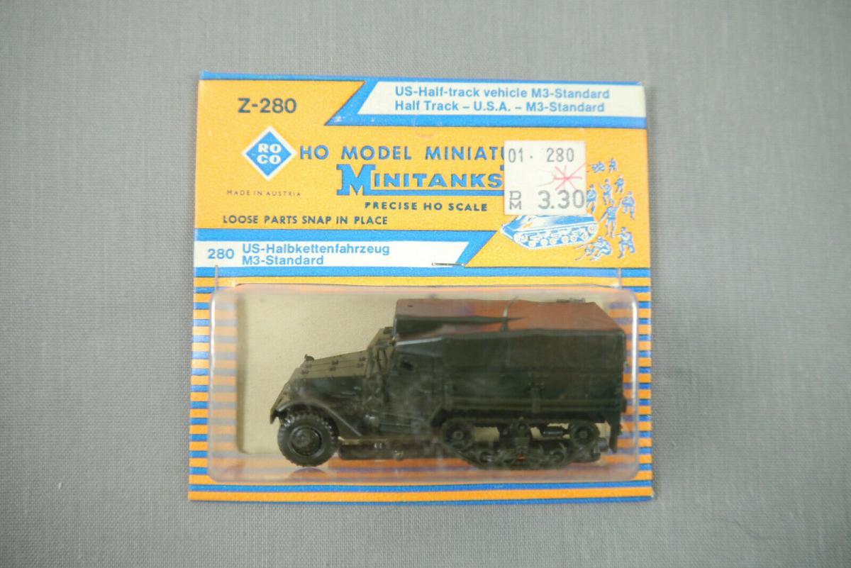 ROCO Z-280 US-Halbkettenfahrzeug M3-Standard  Neu OVP H0 1:87 (KC)