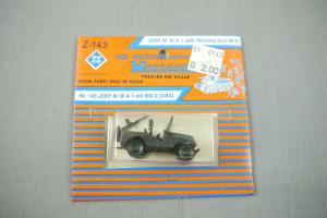 ROCO Z-143 Jeep M 38 A 1 mit MG 2 (USA) Neu OVP H0 1:87 (K44)