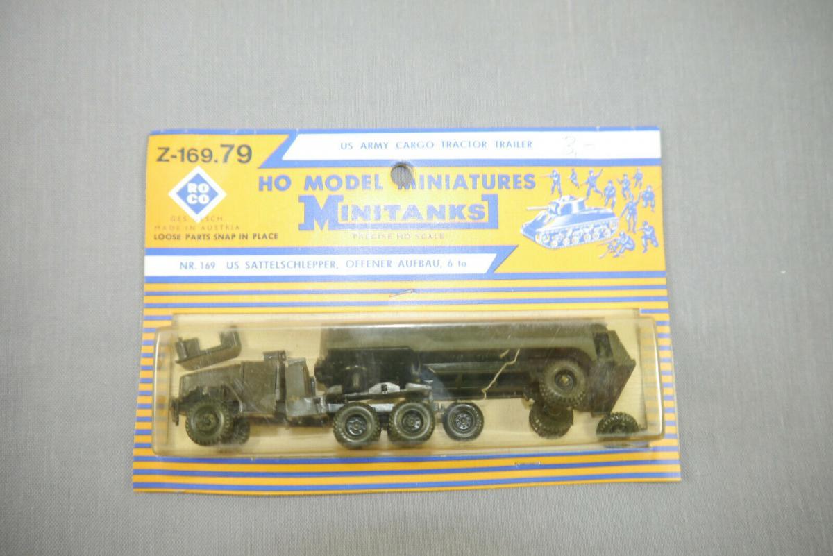 ROCO Z-169.79 Army Cargo Tractor Trailer Neu OVP H0 1:87 (KC)