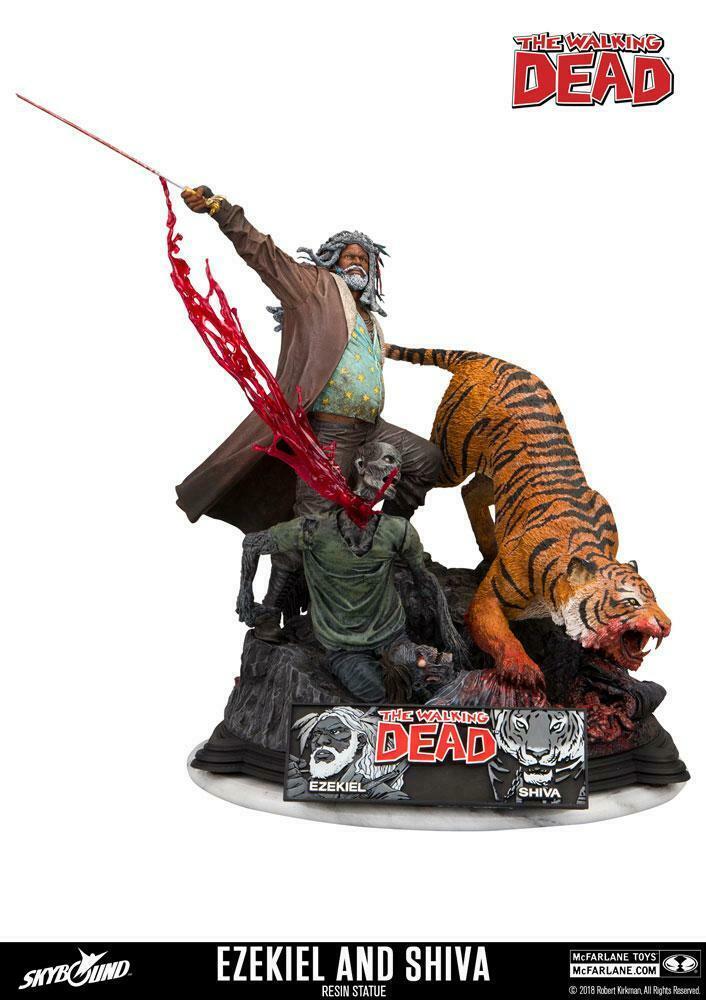 The Walking Dead Statue Ezekiel & Shiva 33 cm McFARLANE Neu L*