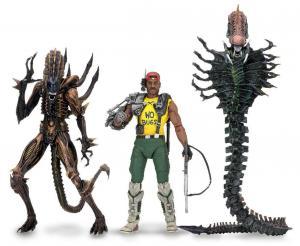 ALIENS Series 13   Scorpion Snake Alien Apone 3er Figuren Set NECA Neu (KB16) *