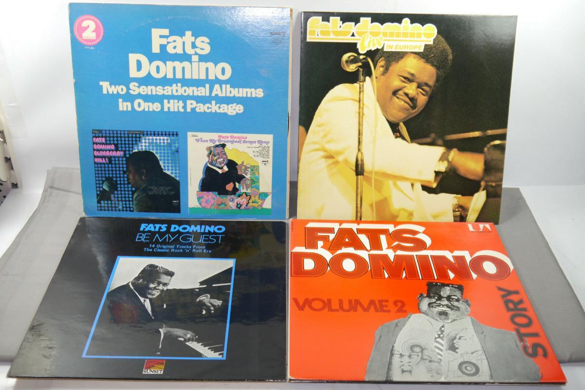 FATS DOMINO 4 verschiedene Schallplatte LP Story Live in Europa  (WR6) 0