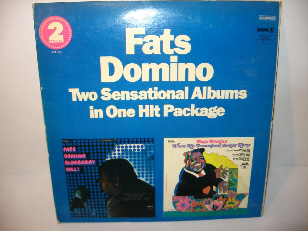 FATS DOMINO 4 verschiedene Schallplatte LP Story Live in Europa  (WR6) 1