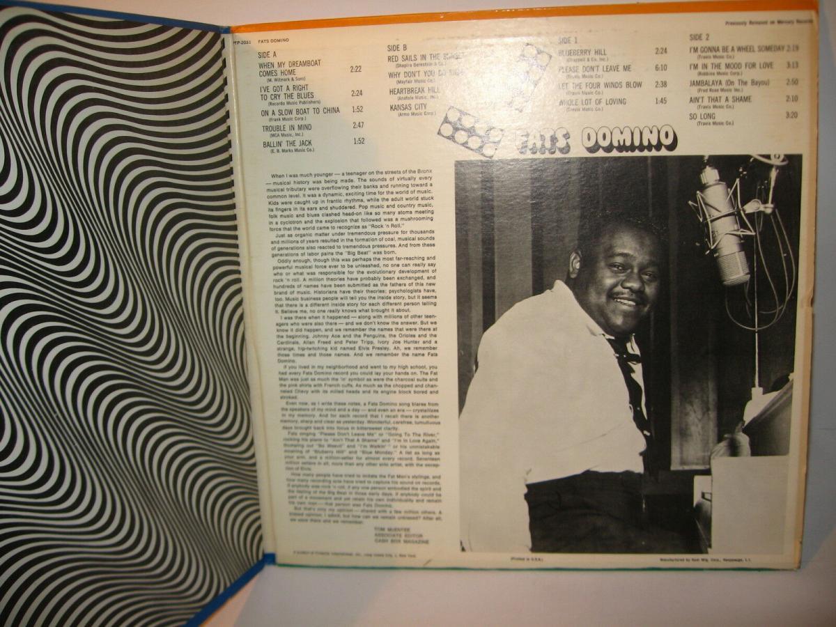 FATS DOMINO 4 verschiedene Schallplatte LP Story Live in Europa  (WR6) 2