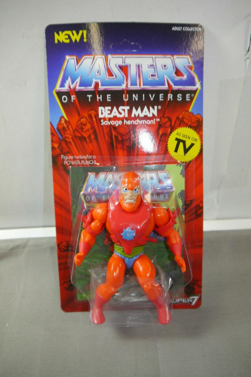 MASTERS OF THE UNIVERSE Vintage Collection Beast Man  SUPER 7   (KA8) 0