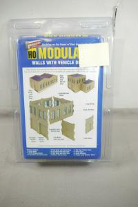 Walthers Cornerstone Modulars Walls With Vehicle Doors   Bausatz  H0 OVP F5 J