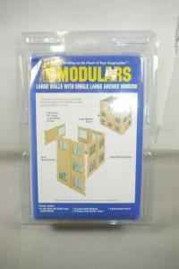 Walthers Cornerstone Modulars Lage Walls + single Window   Bausatz  H0 OVP F5 G