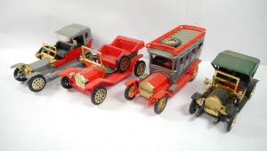 NACORAL 4er Set Modellauto 1910 Ford  1909 Opel Coupe  1907 Rols Royce (K51)