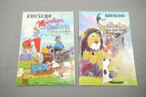 Eduscho Kaffegroßrösterei 2 Hefte Kinderbücher Werbehefte Fabeln + Märchen (K14)