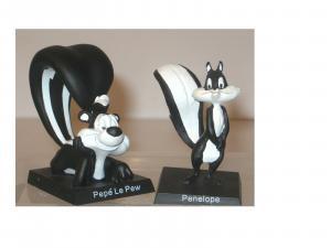 Looney Tunes - Pepe le Pew +  Penelope Figur Set Hobby Work Neu OVP (K 9)