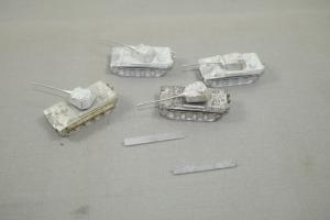 WH Modell  4 x Panzer V Panther G+F Ausf.  Spur N 1:160 Zinn Modelle  (K6)B
