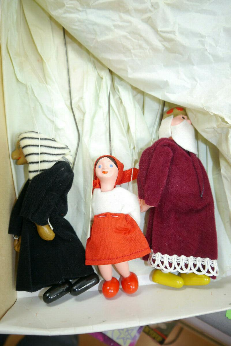 JAS  12 Holz  Marionetten CSSR CSVD Praha Märchen in OVP 70er / 80er J. (K8) 4