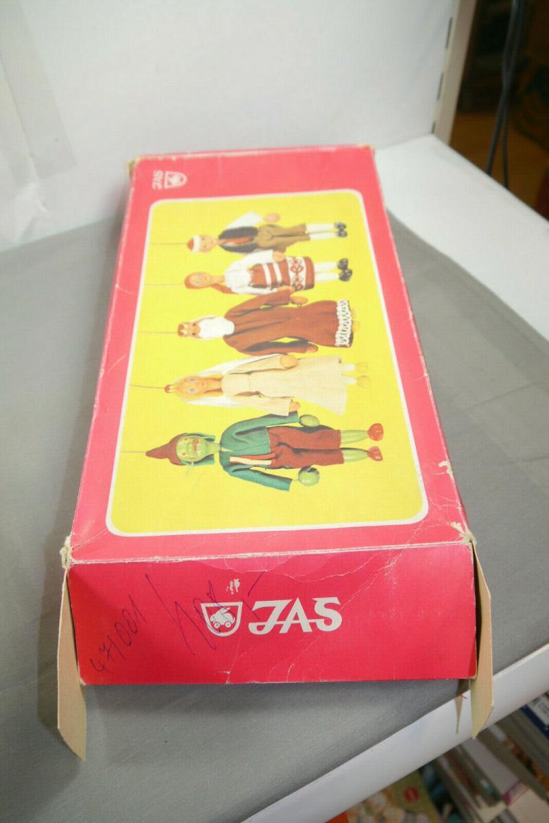 JAS  12 Holz  Marionetten CSSR CSVD Praha Märchen in OVP 70er / 80er J. (K8) 5