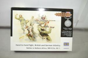 MB 3592 British and German Infantry WWII  Plastik Modellbausatz 1:35 (K49 )