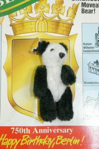 Heike Bär Mini Pin Berliner Bär Panda Bär 750 Jahre Berlin ca.7cm  (K66)