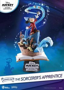 Micky Beyond Imagination D-Stage PVC Diorama The Sorcerer's Apprentic Disney L*