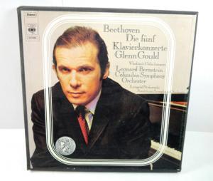 BEETHOVEN Die fünf Klavierkonzerte - 4 Schallplatten LP Glenn Gloud CBS (WR3)