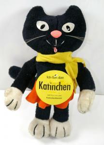 HERMANN Katinchen Katze Kater Stofftier Werbefigur HARIBO 1980 - ca.30cm (K33)