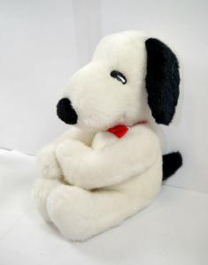 PEANUTS Snoopy sitzend mit Klettverschluss Klammeraffe KRAUT ca.23cm (K8)