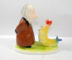 GOEBEL Goethe mit Raupe Porzellan Figur Bundesgartenschau 1989 LIMITIERT (K41) *