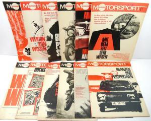 ILLUSTRIERTER MOTORSPORT Heft 1 - 12 / 1972 Zeitschrift Sportverlag DDR (WRZ)