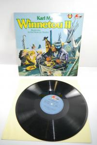 Karl May Winnetou II Blutsbrüder  Schallplatte  LP Maritim Z : gut  (WR1)