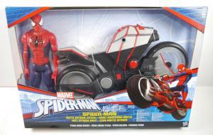 SPIDER-MAN Actionfigur mit Spider Cycle TITAN HERO Hasbro ca.28cm Neu (L)