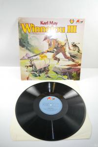 Karl May Winnetou III Old Shatterhand Schallplatte  LP Maritim   (WR1)