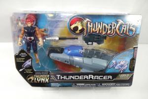 THUNDERCATS Lynx Lion-O Actionfigur + ThunderRacer BANDAI  ca.10cm Neu (L)