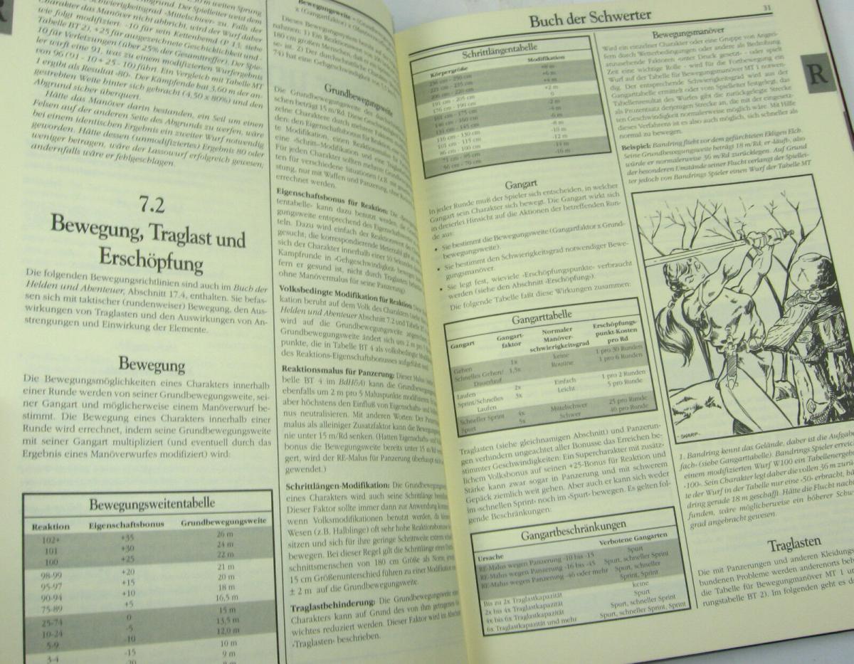 ROLE MASTER Buch der Schwerter 4.Auflage ROLLENSPIEL Tabletop QUEEN GAMES (B1) 3