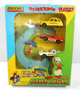 ALFRED J. KWAK Poldertown Playset - 3er Spielzeugauto Set EDOCAR 1989 (F1)