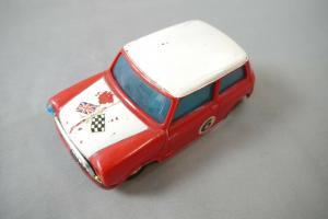 Mini Cooper rot 70er J. Hong Kong Lincoln International Nr. 715 defekt  (K38)
