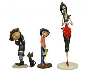 CORALINE Best of 4er Minifigur Figur Set PVC NECA Wybie Mother Cat LAIKA (KB11)*