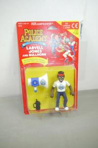 Police Academy  Figur  Serie 1 Larvell Jones and Bullhorn  KENNER OVP (L)