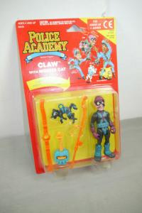 Police Academy  Figur  Serie 1 Claw with Mouser Cat  KENNER OVP (L)