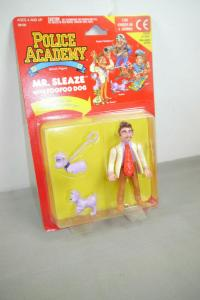 Police Academy  Figur  Serie 1 Mr. Sleaze with Foofoo Dog  KENNER OVP (L)