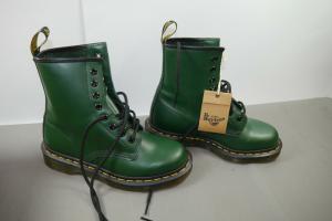 Dr. Martens AirWair  8 Loch Boots Schuhe Stiefel dunkelgrün UK3 Gr.36 NEU (WR7)