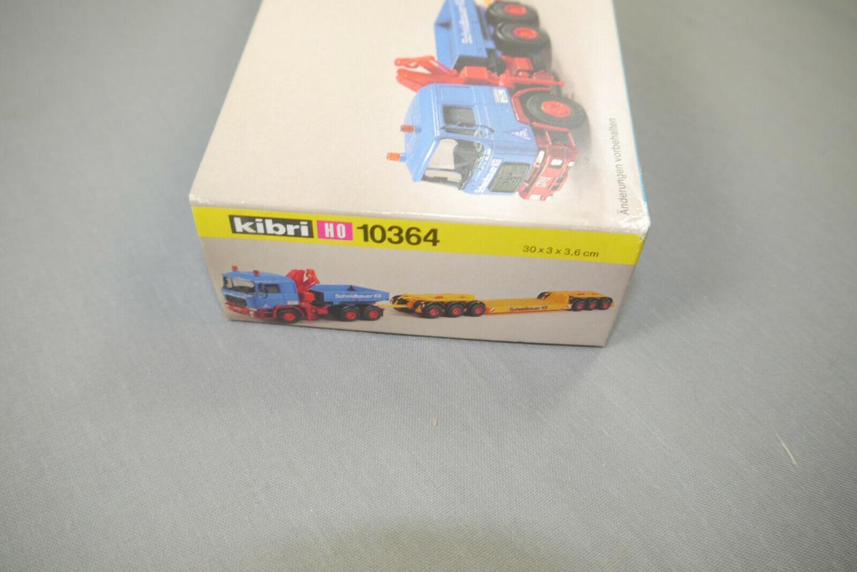 Kibri 10364 MAN Zugmaschine mit Ladekran + Scheuerle Tieflader Bausatz H0  (K26) 1