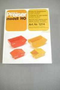 Preiser modell 1214 Mulden für Absatzkipper  H0 (K24)