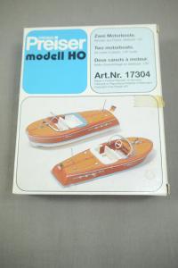 Preiser modell 17304 zwei Motorboote H0 (K24)