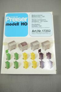 Preiser modell 17202 Müllcontainer Mülltonnen H0 (K24)