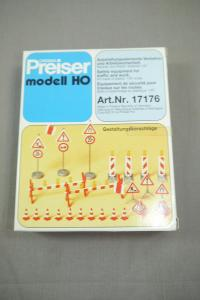 Preiser modell 17176 Ausstattungselemente Verkehrs Arbeitssicherheit H0 (K24)