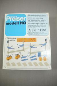 Preiser modell 17186 Kfz-Werkstatteinrichtung  Bausatz  H0 (K24)